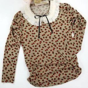 Sweaters - I love cherry Korean peter pan collar sweater